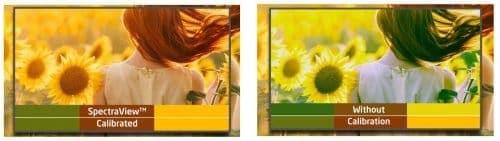 kalibrēts ekrāns pareizas krāsas