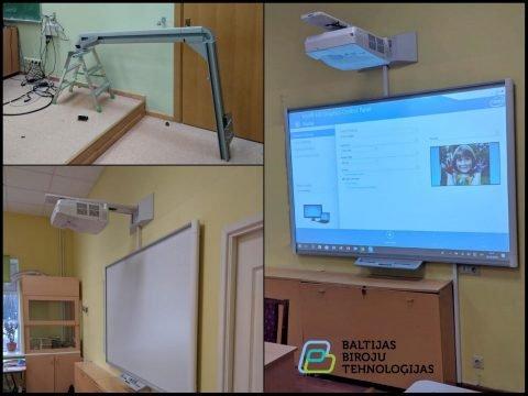 Projektora maiņa interaktīvajai tāfelei