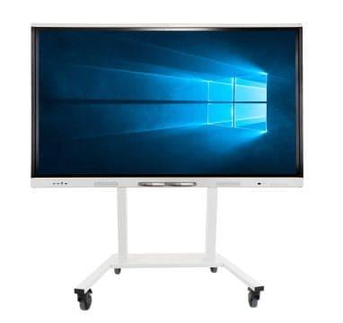 SMART Board MX v2 ekrāns uz stenda ar riteņiem un Windows 10