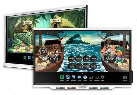 SMART interaktīvais displejs ar izglītības aplikāciju komplektu SMART Learning Suite un apmācība
